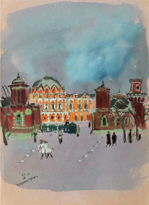 Petrovsky Palace in Petrovsky Park