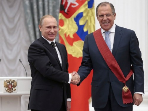 Putin awarded Lavrov the title of Hero of Labor