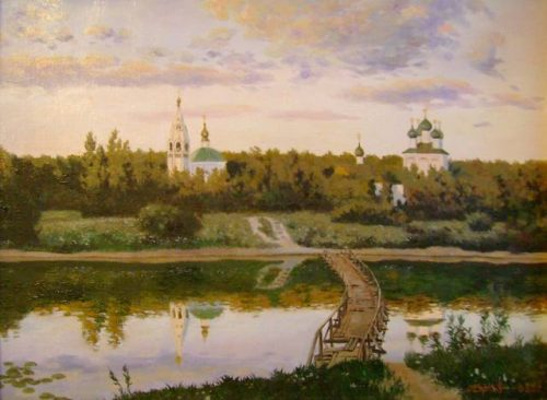 Quiet abode - painting by Isaac Ilyich Levitan