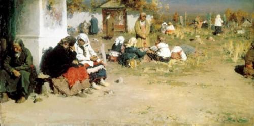 Abram Arkhipov. Radonitsa (Before Mass)
