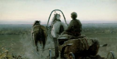 Return trip. 1896 Oil on canvas.