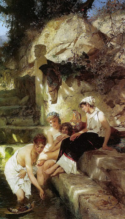 Roman idyll. 1885-90. Henryk Siemiradzki
