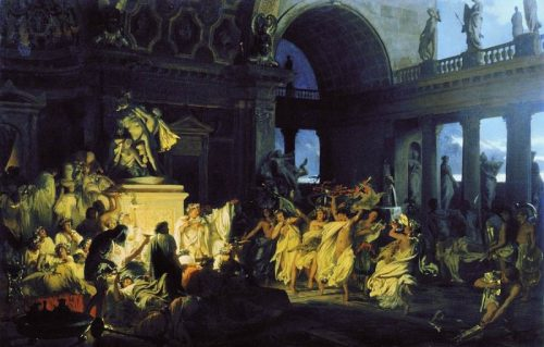 Roman orgy of the brilliant times of Caesarism. 1872