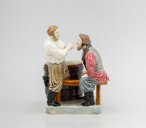Kuznetsov's porcelain. SCULPTURAL COMPOSITION PLAYERS. Russia, Tver factory of M.S. Kuznetsov, 1880-1889