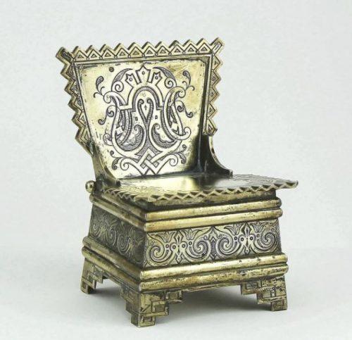 Salt-cellar Chair made of silver 84 (Khlebnikov factory, XIX century)