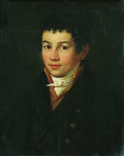 Self-portrait (in adolescence) Oil on canvas. 55 x 44.3 cm, State Tretyakov Gallery