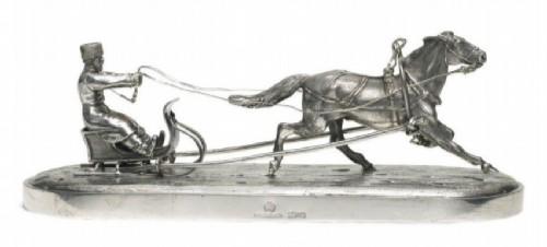 Silver figurine. Ovchinnikov, Moscow, 1893