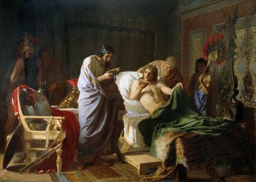 Henryk Siemiradzki. The confidence of Alexander the Great in the doctor Philip. 1870