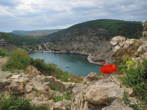 The decoration of the city is the Balaklava Bay, located between the high rocky mountains.