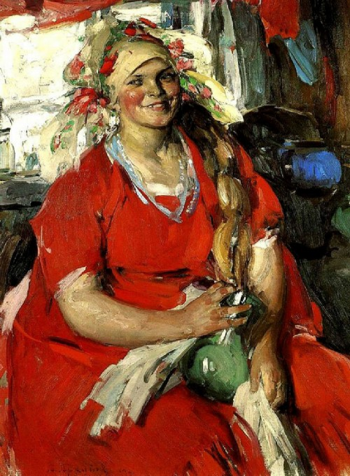 Woman in red. 1919