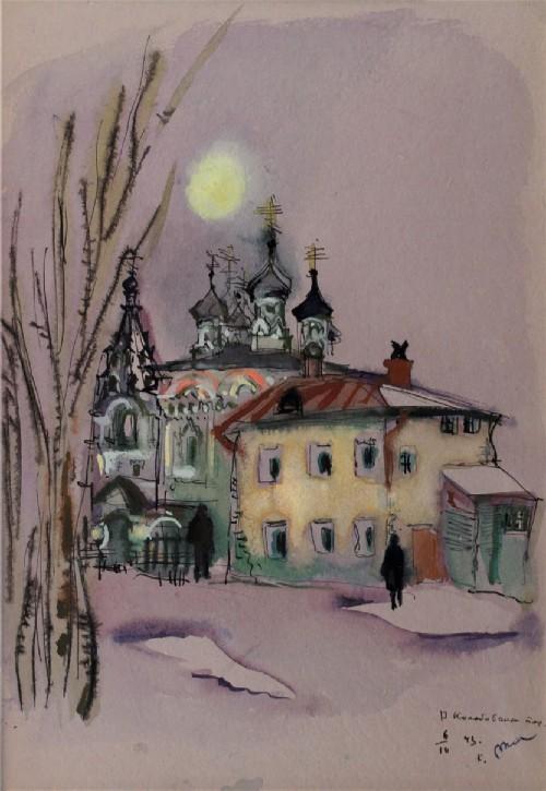 Tatyana Mavrina. Znamenskaya church in Kolobovsky lane