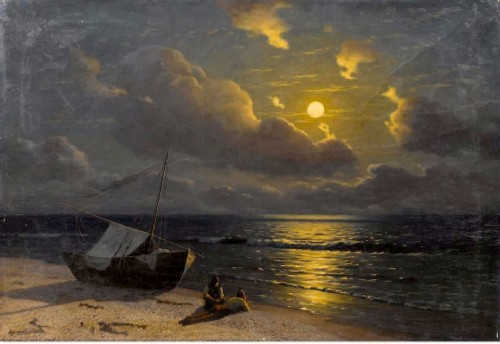 G.O. Kalmykov. Moonrise in Otuzy. 1905-1910
