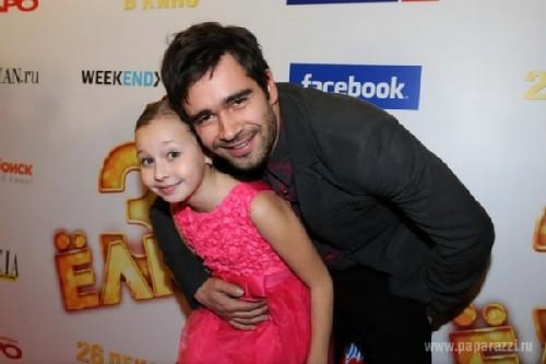 Peter Fedorov and his daughter, young actress - Lera Strelyaeva