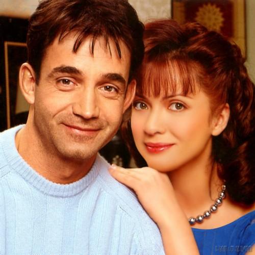 Dmitry Pevtsov and Olga Drozdova in their youth