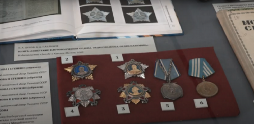 Order of Nakhimov, Exhibition at the Central Naval Museum in With the name of Ushakov and Nakhimov, 2019