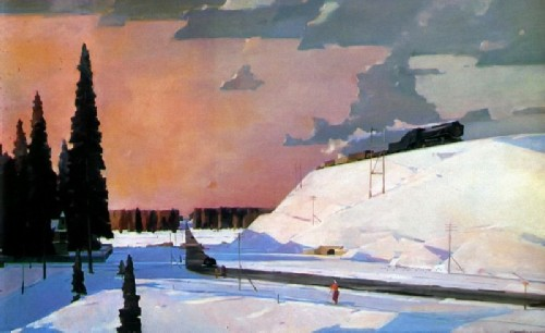 February. Moscow suburbs