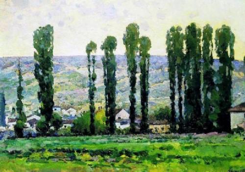 Alexander Kuprin Poplars. Bakhchisarai 1927
