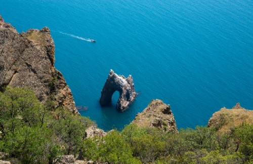 Rock Golden Gate in Crimea