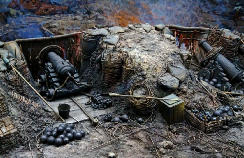 Stanislavsky's battery abandoned by the gunners