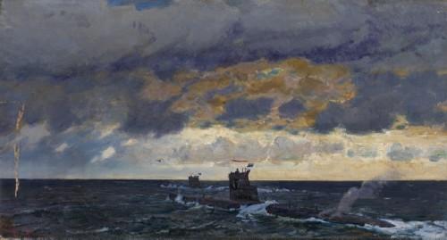 Submarine in the Barents Sea, 1950s. Georgy Grigorievich Nissky