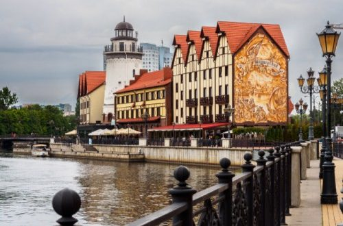 Fishing village in Kaliningrad