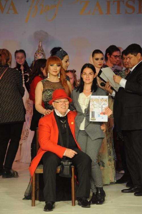 Ekaterina Chopey and fashion designer Vyacheslav Zaitsev