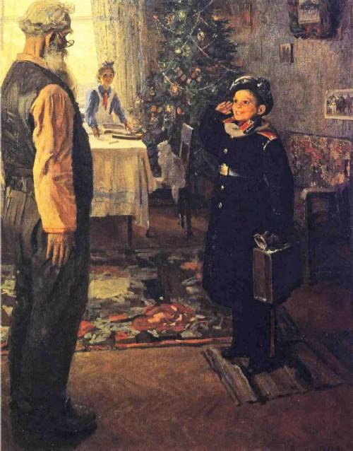 Fedor Reshetnikov. Arrived on vacation 1948. State Tretyakov Gallery, Moscow