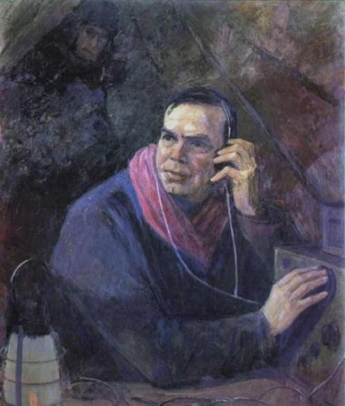 I can hear the Earth! Portrait of the Hero of the Soviet Union E. Krenkel 1981