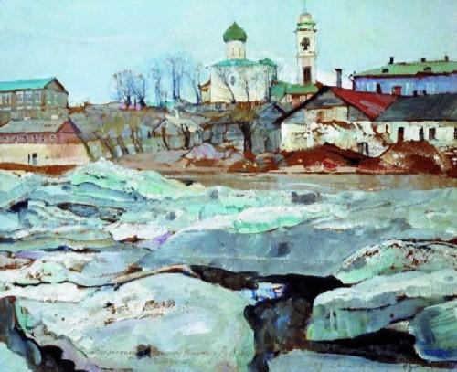 Ice drift in Pskov, 1913