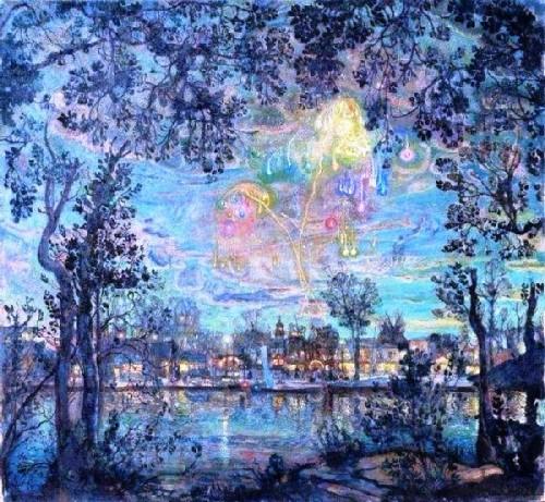 Isaak Izrailevich Brodsky. Fireworks, 1912