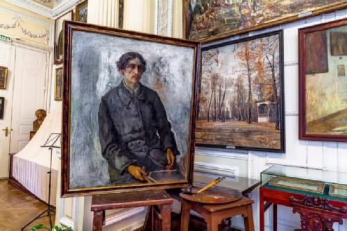 Museum-apartment of Isaac Brodsky in St. Petersburg. Self-portrait of Isaac Brodsky, 1914