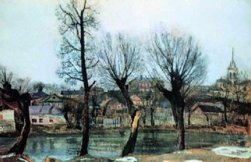 Pskov. Willows, 1913