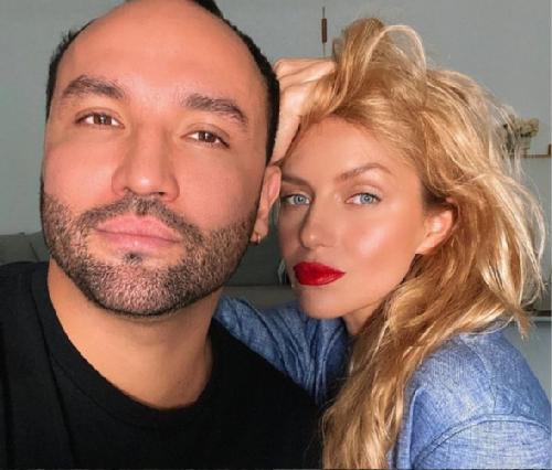 Serdar Kambarov and his wife Anastasia Pogudina