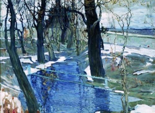 Isaac Brodsky, Towards spring, 1906