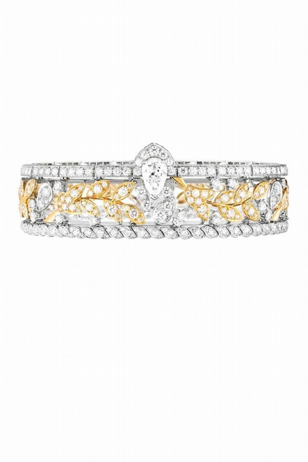 Chanel Russian collection. Ble Gabrielle bracelet, yellow and white gold, diamonds