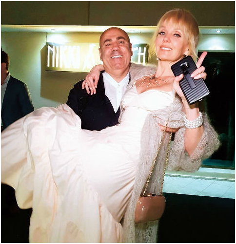 Valeria and her husband Joseph Prigogine