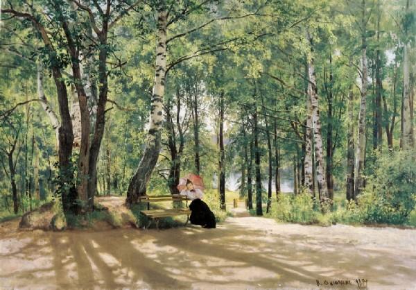 "Ivan Shishkin. Painting ""In the country. (Near the dacha) , 1894"