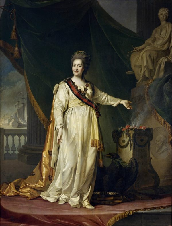Dmitry Levitsky. Portrait of Catherine II as a Legislator in the Temple of the Goddess of Justice