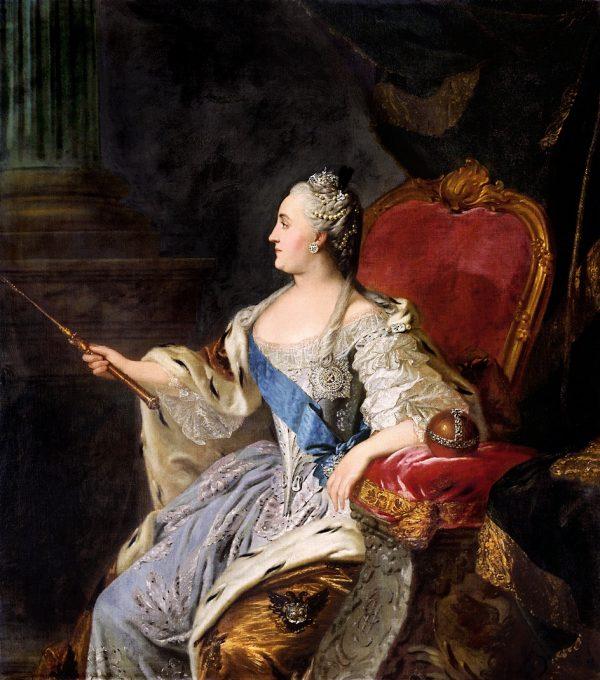 Fedor Rokotov. Painting Portrait of Catherine II, 1763
